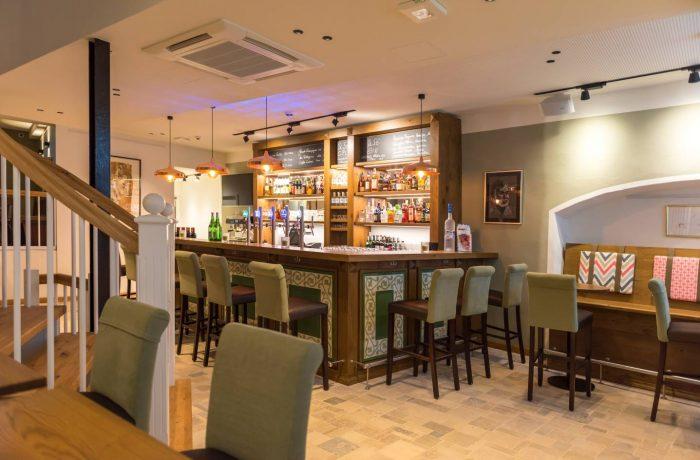 Blick auf die neue Bar